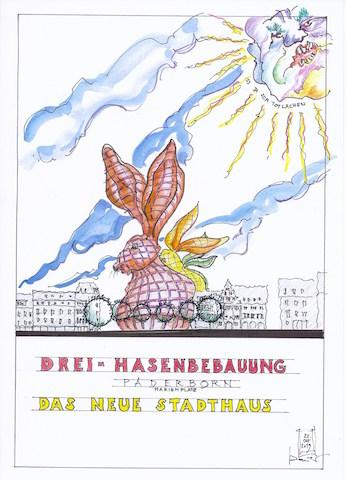 Drei-Hasenbebauung, Grafik mit freundlicher Genehmigung durch Architekt Roland Bauer